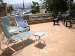 Apartment Block's Swimming Pool & Sunloungers