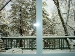 Snowfall on the deck