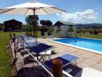 MELA unit with pool in a wine estate close Assisi