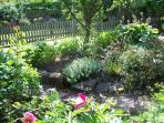 Peaceful country garden to relax and smell the roses