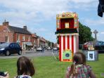 Punch and Judy show on the green