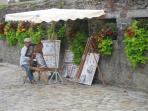 Concarneau street artist