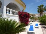 Villa AJ private garden - 4 sunbeds