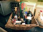 Welcome hamper including local produce