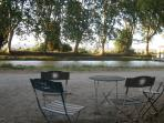 Tables along the canal du midi