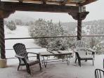 The patio in wintertime