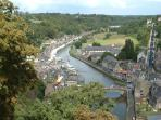 View of the river from the ramparts at Dinan