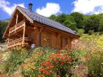 The chalet during the summer season