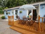 Bluebell Cottage showing decking area