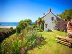 Tresillian has a private terraced garden offering superb sea views and plenty of garden furniture