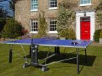 Table Tennis on the from lawn