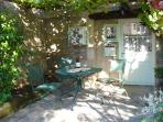Sheltered terrace and BBQ