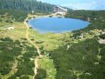 Stunning lake view high on Pirin Mountain