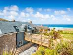 Sandpipers, a romantic cottage by the beach with superb sea views