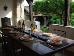 Dinner on the covered terrace