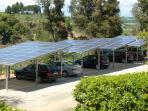 Carport with fotovoltaics