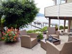Outdoor patio area with amazing views