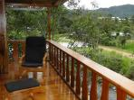 Amazing balconies belong the riverside with a beautiful landscape