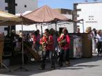 Entertainment at Teguise market day