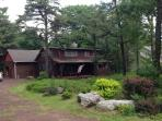 picture of cabin in the summer