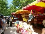Market day in Saint Chinian