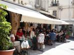 The local cafe, Bambar. Try the granitas, buonissime!