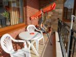 Balcony with swinging hammock