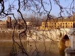Panorama of river Tevere