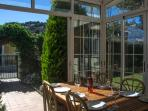 Additional Dining Area in Glass Conservatory