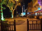 Beylerbeyi harbor during night