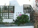 Suntrap patio garden