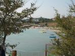 View from Ravda peninsula across the bay
