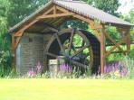 Water wheel at the lovely Renaudie Gardens, 5 minutes away