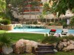 gardens surrounding the swimming pool