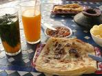 Traditional Moroccan breakfast.