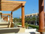 Sunny veranda from where you can see the sea to the left and the Natural Parque to the right
