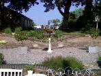 rear garden /indoor swimming pool