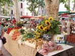 Great Provencal market. All scents and colors of Provence.