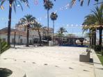the town square in algorfa