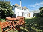 Lovely sunny, enclosed rear garden with an area for family meals