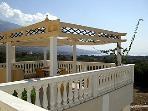 Fantastic Sea & Mountain views from the shaded pergola balcony