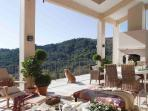 Outdoor living/dining room Panoramic views