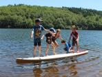 Stand Up Paddle boards can be rented at the lake, for paddling or just messing around on!
