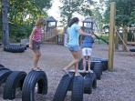 Beachwalk's Cason Park. Watch the kids while grilling out at Sweet Digs.