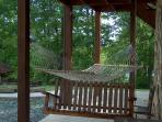 Hammock on lower patio