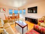 Enjoy the ocean views while relaxing in the living room and enjoying family meals