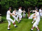 Morris dancing in Bampton