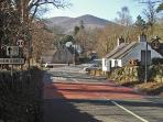 The road into New Abbey, the cottage is just around the corner, just look at the back drop, beatiful
