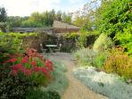 Gorgeous sunny rear courtyard garden