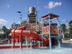 Children's play area at the water park